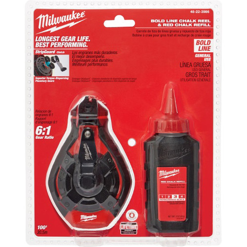 Milwaukee 48-22-3986 100 ft. Bold Line Kit with Red Chalk image number 0