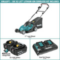 Makita XML02PT 18V X2 (36V) LXT 5 Ah Lithium-Ion 17 in. Lawn Mower Kit image number 1