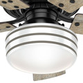 Hunter 54149 44 in. Cedar Key Matte Black Outdoor Ceiling Fan with Light and Integrated Control System-Handheld image number 9