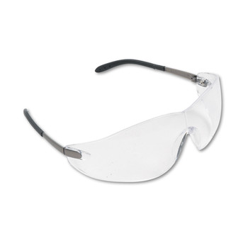 MCR Safety S2110 Clear Lens Blackjack Wraparound Chrome Plastic Frame Safety Glasses