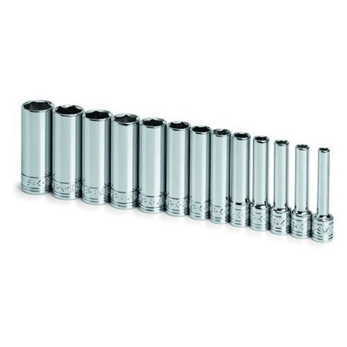 SK Hand Tool 1312 13-Piece 1/4 in. Drive 6 Point Deep Metric Socket Set