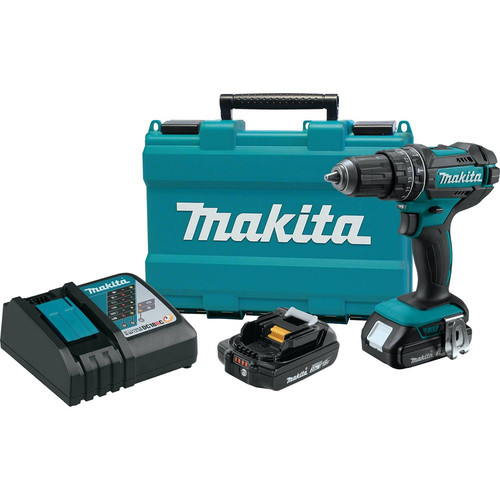 Makita XPH10R 18V 2.0 Ah Cordless Lithium-Ion Compact 1/2 in. Hammer Drill Driver Kit