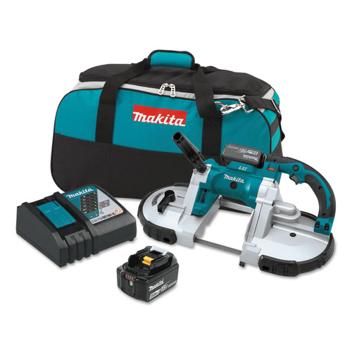 Makita XBP02TX 18V LXT 5.0 Ah Cordless Lithium-Ion Portable Band Saw Kit