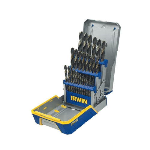 Irwin Hanson 3018005 29-Piece Black & Gold Metal Index Drill Bit Set