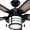 Hunter 59135 Key Biscayne 54 in. Weathered Zinc Burnished Grey Pine Outdoor Ceiling Fan image number 8