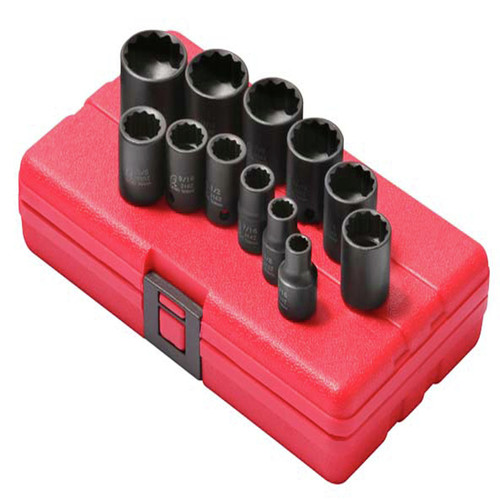 Sunex 3674 12-Piece 3/8 in. 12-Point SAE Impact Socket Set image number 0