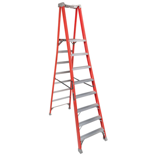 Louisville FXP1708 8 ft. Type IA Duty Rating 300 lbs. Load Capacity Fiberglass Platform Step Ladder