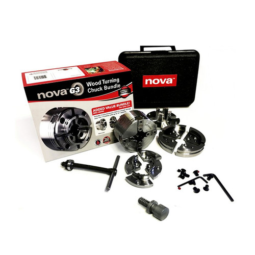 NOVA 48246 G3 Lathe Chuck 30th Anniversary Bundle with case image number 0