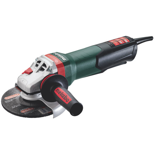 Metabo WEPBA17-150 Quick 14.5 Amp 6 in. Angle Grinder with Brake, TC Electronics and Non-Locking Paddle Switch