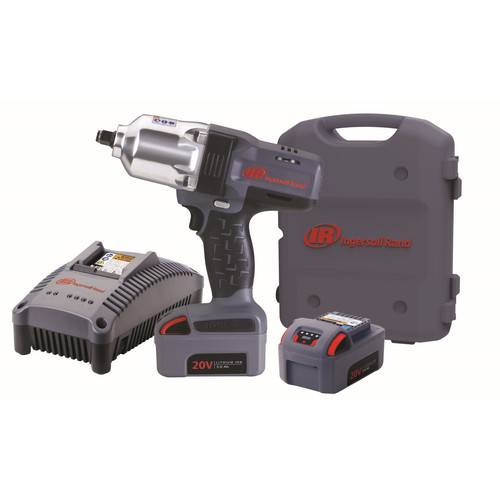 Ingersoll Rand W7150-K2 20V 3.0 Ah Cordless Lithium-Ion 1/2 in. High-Torque Impact Wrench with 2 Batteries