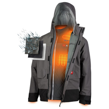 Milwaukee 203RN-21L M12 3-in-1 Heated AXIS Jacket Kit with Rainshell image number 2