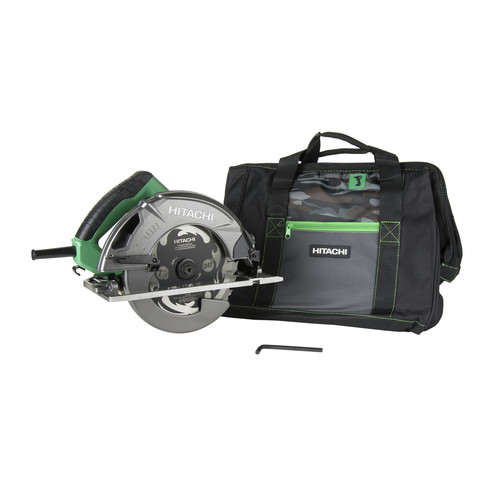 Factory Reconditioned Hitachi C7SB3 15 Amp 7-1/4 in. Circular Saw 0-55 Degrees Bevel Capacity, Blower Function, & Aluminum Die Cast Base