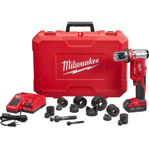 Milwaukee 2677-21 M18 Force Logic 18V Cordless Lithium-Ion 6T 1/2 in. - 2 in. Knockout Tool Kit