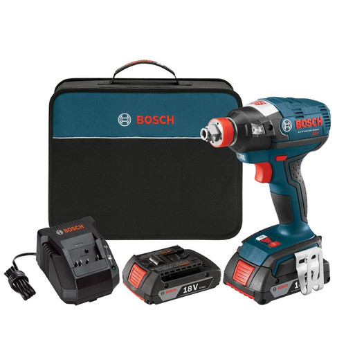 Factory Reconditioned Bosch IDH182-02-RT 18V Cordless Lithium-Ion Brushless Socket Ready Impact Driver Kit with Soft Case image number 0