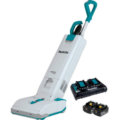 Makita XCV19PG 18V X2 (36V) LXT Brushless Lithium-Ion 1.3 Gallon HEPA Filter 12 in. Cordless Upright Vacuum Kit (6 Ah) image number 0