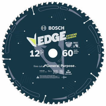 Bosch DCB1260 Daredevil 12 in. 60 Tooth Fine Finish Circular Saw Blade image number 0