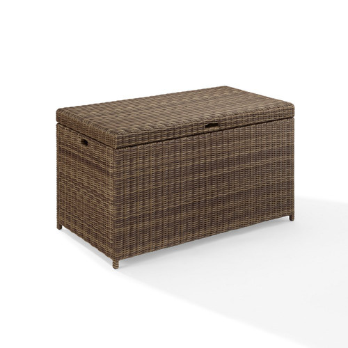 Incroyable Crosley Furniture CO7305 WB Bradenton Resin Wicker Outdoor Storage Bin  (Brown)