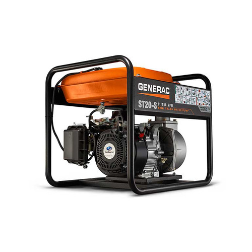Generac ST20-S ST20-S 169cc 2 in. NPT 158 GPM Gas-Powered Semi-Trash Water Pump