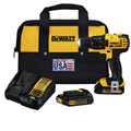 Factory Reconditioned Dewalt DCD780C2R 20V MAX 1.5 Ah Cordless Lithium-Ion 1/2 in. Compact Drill Driver Kit