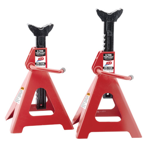 ATD 7446 6 Ton Ratchet Style Jack Stand Pair image number 0