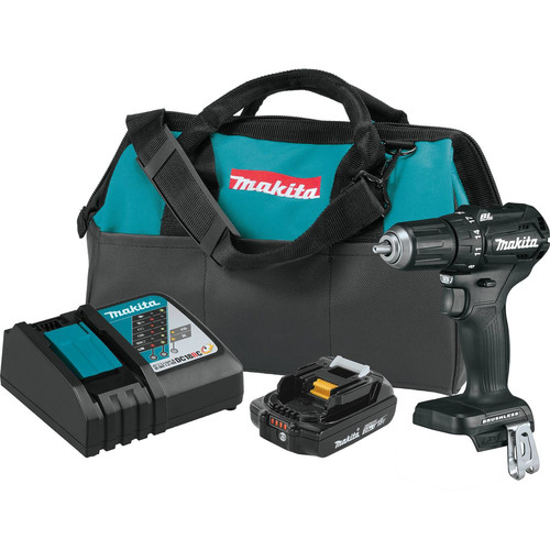 Makita XFD11R1B 18V LXT Lithium-Ion Brushless Sub-Compact 1/2 in. Cordless Drill Driver Kit (2 Ah) image number 0