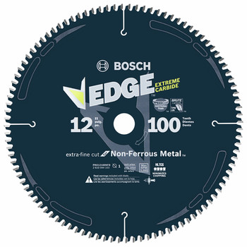 Bosch PRO12100NFB 12 in. 100-Tooth Non-Ferrous Metal Cutting Blade image number 0