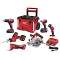 Milwaukee 2697-26PO M18 6-Tool PACKOUT Combo Kit image number 0