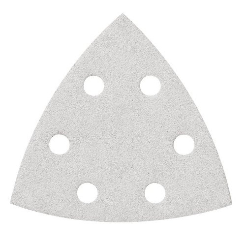 Bosch SDTW180 180-Grit White Detail Triangular Hook and Loop Sanding Sheets (5-Pack)