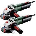 Metabo 603624420-BNDL Metabo WP 11-125 Quick 11 Amp 11,000 RPM 4.5 in. / 5 in. Corded Angle Grinder with Non-Locking Paddle (2-pack) image number 0