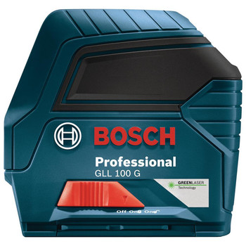 Factory Reconditioned Bosch GLL100GX-RT Self-Leveling Cross Line Laser (Green) image number 1