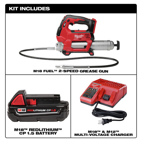 Milwaukee 2646 21ct M18 18v Lithium Ion 2 Speed Cordless Grease Gun Kit Cpo Outlets