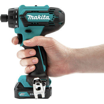 Makita FD10R1 12V max CXT Lithium-Ion Hex Brushless 1/4 in. Cordless Drill Driver Kit (2 Ah) image number 3