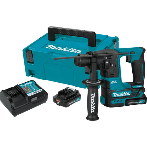 Makita RH01R1 12V MAX CXT 2.0 Ah Lithium-Ion Brushless Cordless 5/8 in. Rotary Hammer Kit, accepts SDS-PLUS bits image number 0