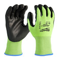 Milwaukee 48-73-8921B 12-Piece Cut Level 2 High Visibility Polyurethane Dipped Gloves - Medium image number 0