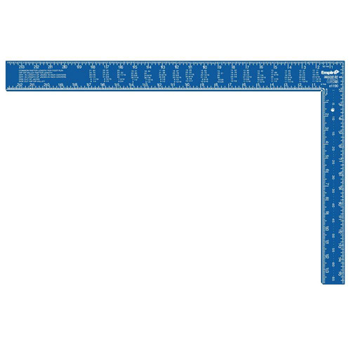 Empire 1190 16-inx24-in TRUE BLUE Hi-Vis Anodized Aluminum Professional Framing Square image number 0