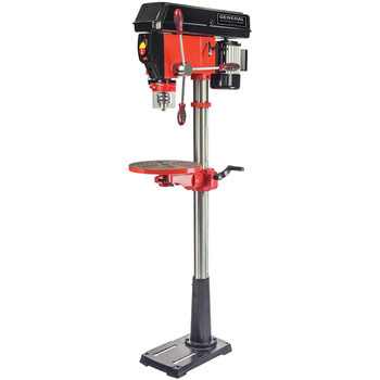General International DP2006 15 in. 16-Speed 5A Floor Mount Drill Press with Laser System and LED light