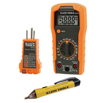 Klein Tools 69149 Cordless Multimeter/ Non-Contact Volt Tester/ Outlet Tester Kit