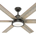 Hunter 59461 60 in. Warrant Ceiling Fan with Wall Control and LED Light Kit (Noble Bronze) image number 4