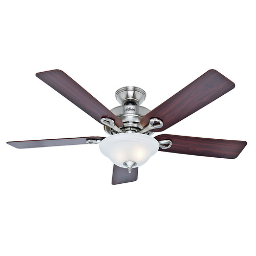 Hunter 53047 52 in. Kensington Brushed Nickel Ceiling Fan with Light