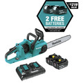 Makita XCU03PT1 18V X2 (36V) LXT Lithium-Ion Brushless Cordless 14-in Chain Saw Kit with 4 Batteries (5.0Ah) image number 2