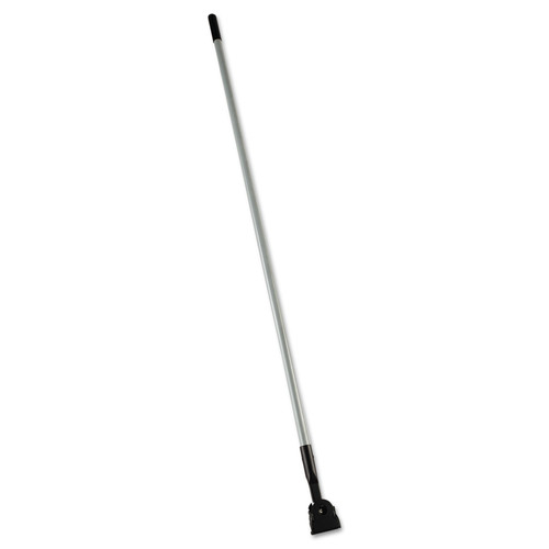 Rubbermaid Commercial FGM146000000 Snap-On Fiberglass 60 in. Dust Mop Handle - Gray/Black image number 0