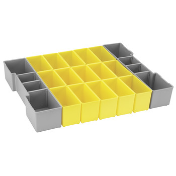 Bosch ORG1A-YELLOW Click and Go 17 Pc Organizer Set for L-BOXX-1A