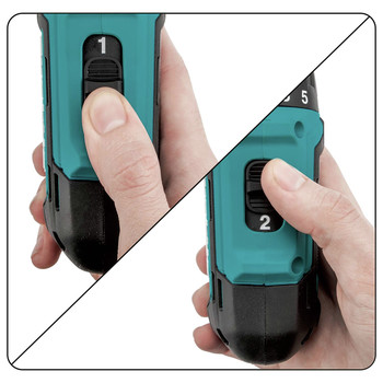 Makita FD10R1 12V max CXT Lithium-Ion Hex Brushless 1/4 in. Cordless Drill Driver Kit (2 Ah) image number 5