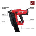 Milwaukee 2744-20 M18 FUEL 21-Degree Cordless Framing Nailer (Tool Only) image number 1