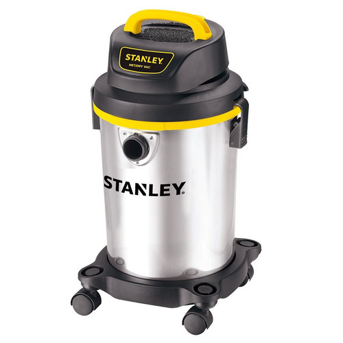Stanley SL18129 4.0 Peak HP 4 Gallon Portable S.S. Wet Dry Vac with Casters