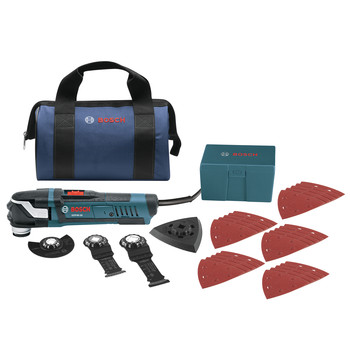 Bosch GOP40-30B Multi-X 3.0 Amp StarlockPlus Oscillating Tool Kit w/Snap-In Blade Attachment image number 0