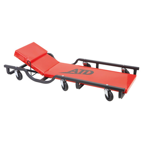 ATD 81042 40 in. Drop Arm Steel Creeper with Adjustable Head Rest