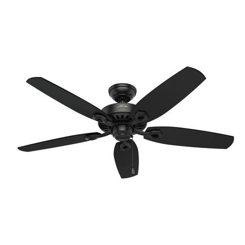 Hunter 53243 52 in builder elite energy star matte black ceiling fan builder elite energy star matte black ceiling fan aloadofball Images