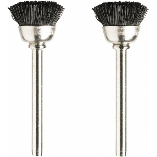 Dremel 404-02 1/2 in. Nylon Bristle Brushes (2-Pack)