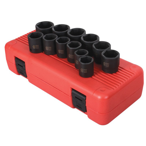 Sunex 2692 12-Piece 1/2 in. Drive Metric Impact Socket Set image number 0